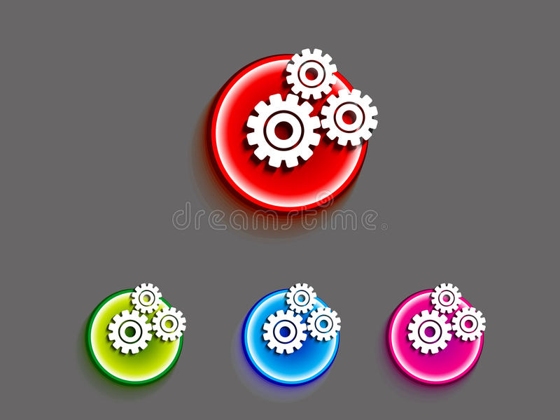 Download Abstract settings button stock vector. Illustration of icon - 25850547