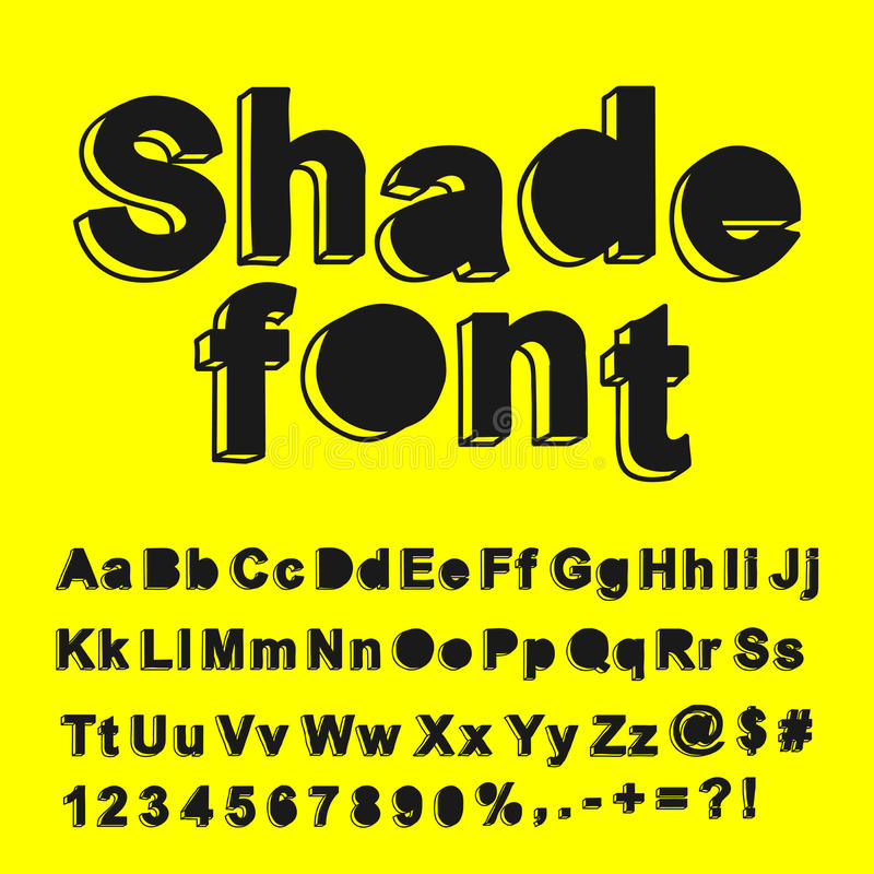 Abstract Shade Font Royalty Free Stock Images