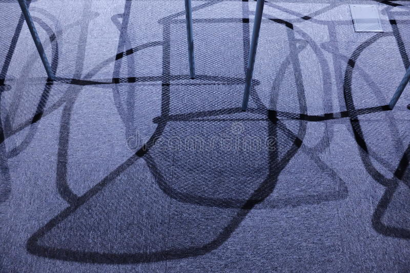 Abstract shadow of chairs royalty free stock photos