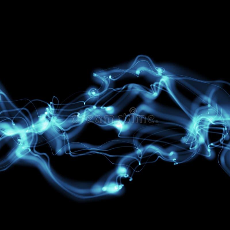 Abstract shape of blue light stock illustration