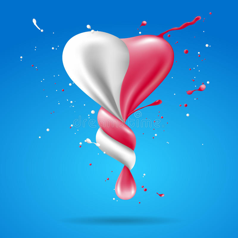 Free Abstract Shape Heart With Milk And Strawberry Twist. Royalty Free Stock Photo - 88082195