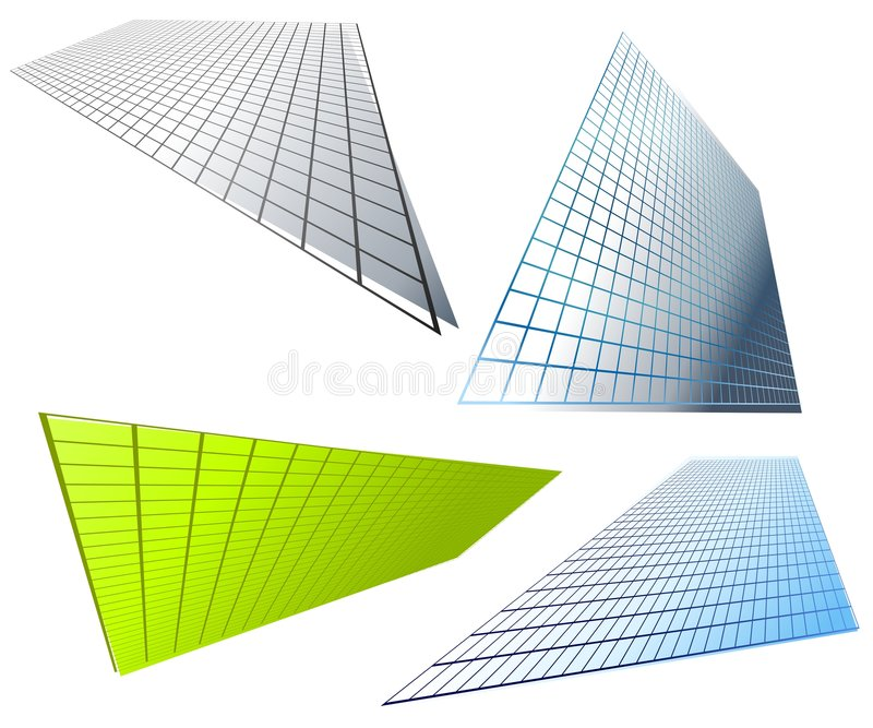 Abstract Shaped Grid Backgrounds vector illustration
