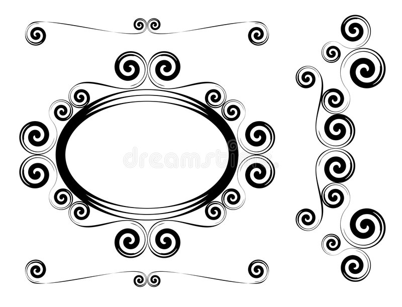 Abstract shapes vector illustration