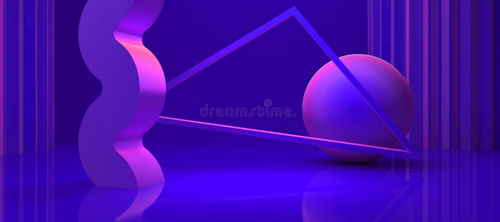 Abstract shapes stock illustration