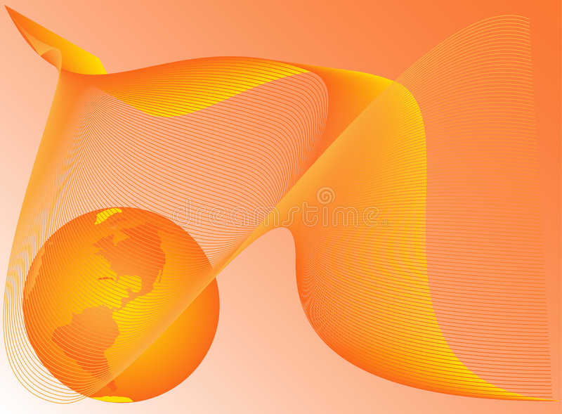 Abstract shapes and Earth royalty free illustration