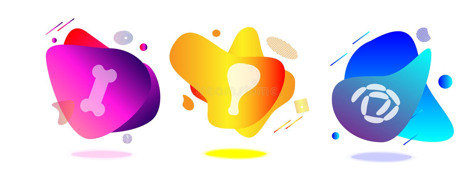 Abstract shapes and lines for icons. stock illustration