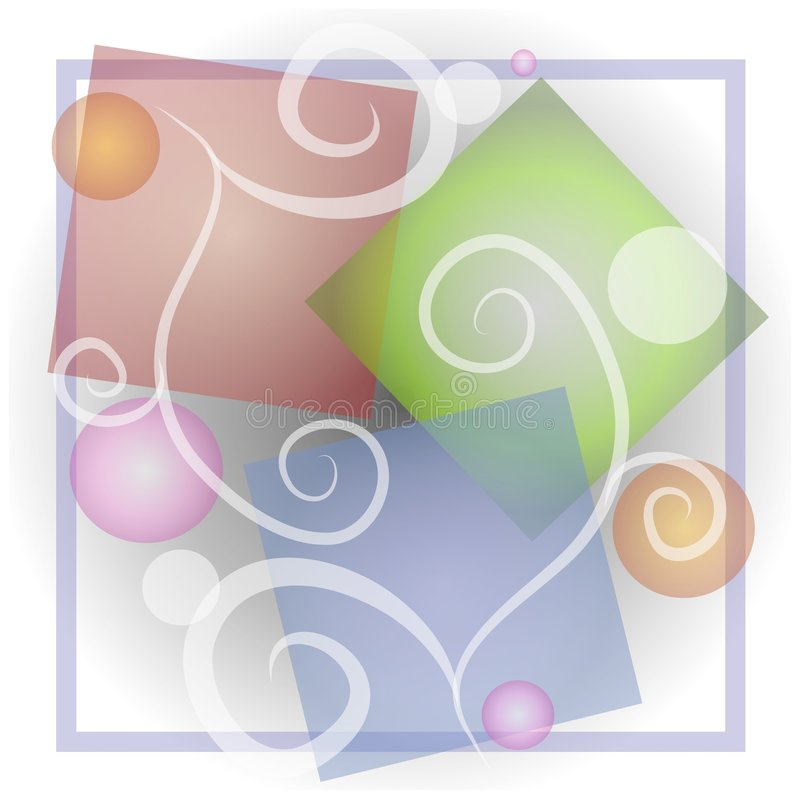 Abstract Shapes Swirls Collage royalty free illustration