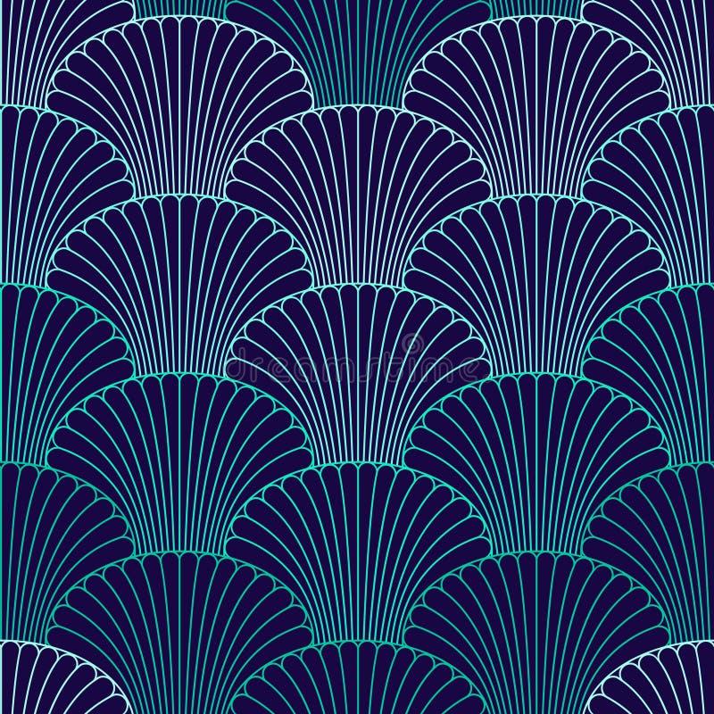Abstract shell naadloos patroon stock illustratie