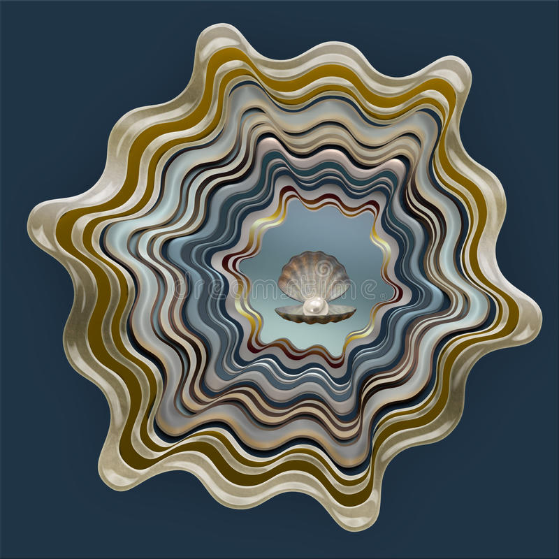 Abstract shell patroon royalty-vrije illustratie
