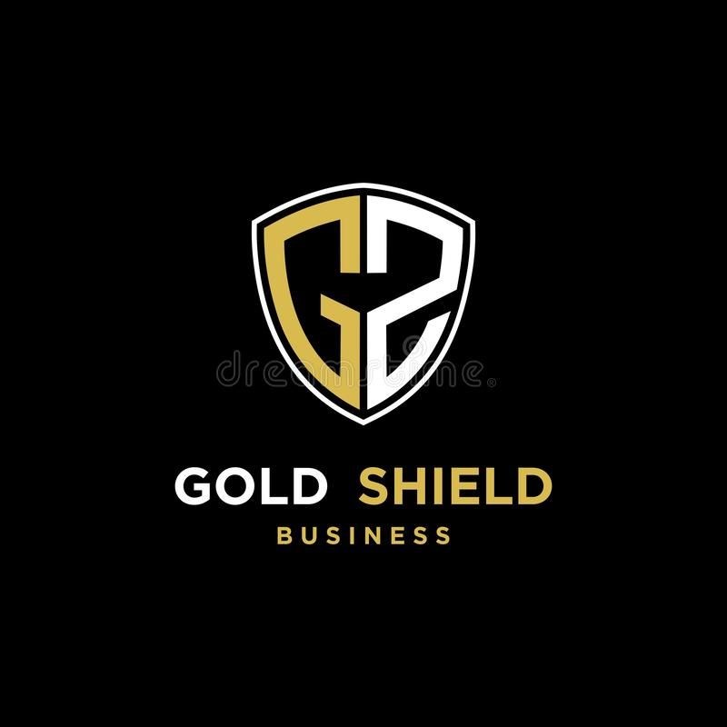 Abstract shield inisial GS logo design inspiration royalty free illustration