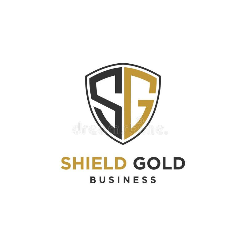 Abstract shield inisial SG logo design inspiration vector illustration