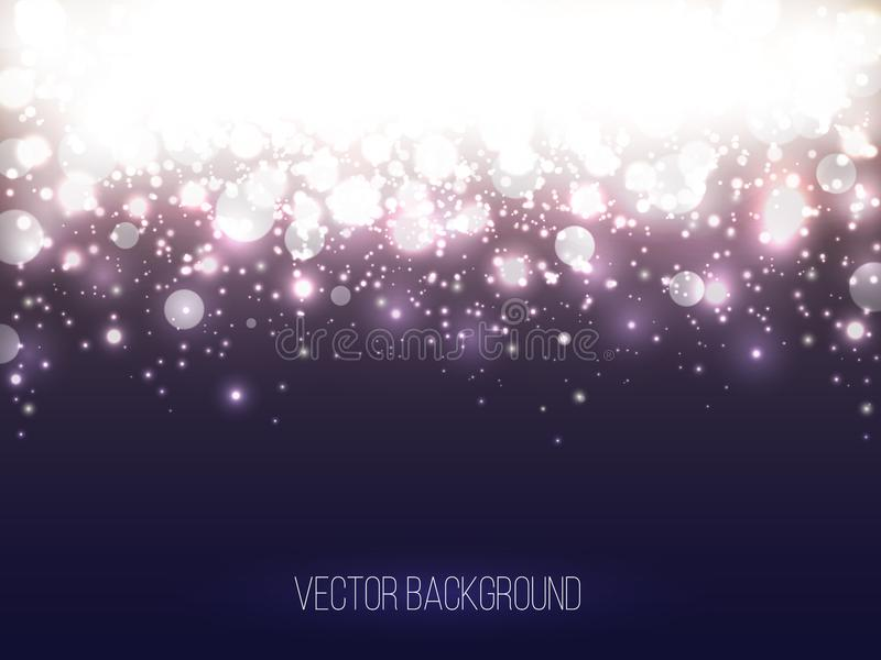 Abstract Shining Background. Colorful bokeh vector illustration. Lights and Fog Background stock illustration