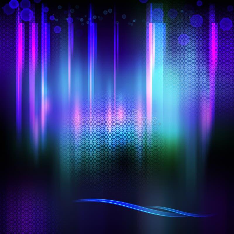Abstract shining techno futuristic background royalty free illustration