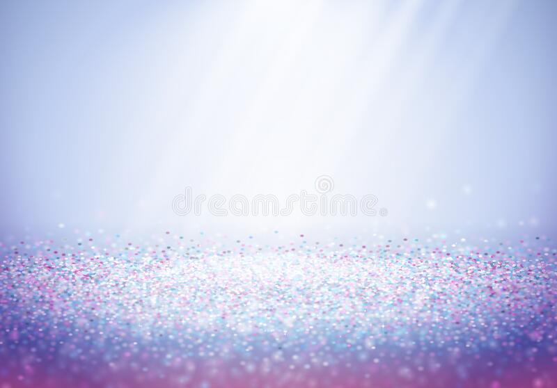 Abstract shiny blue and purple glitter background with sun or light rays vector illustration