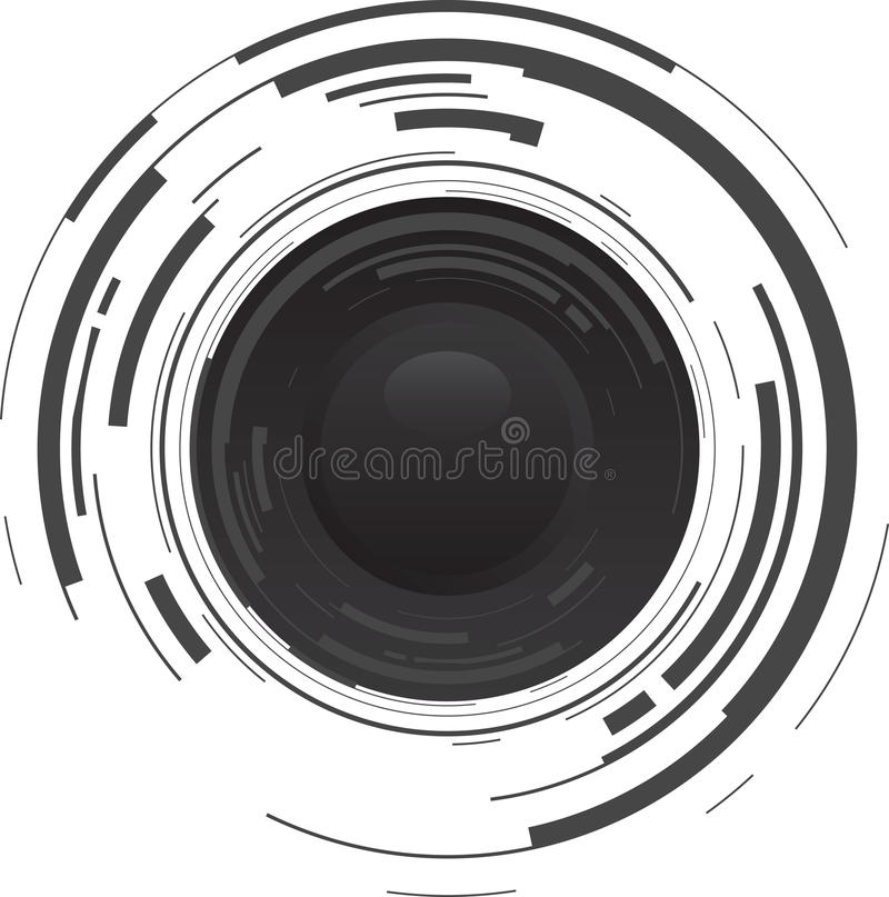 Abstract Shiny Button Stock Image