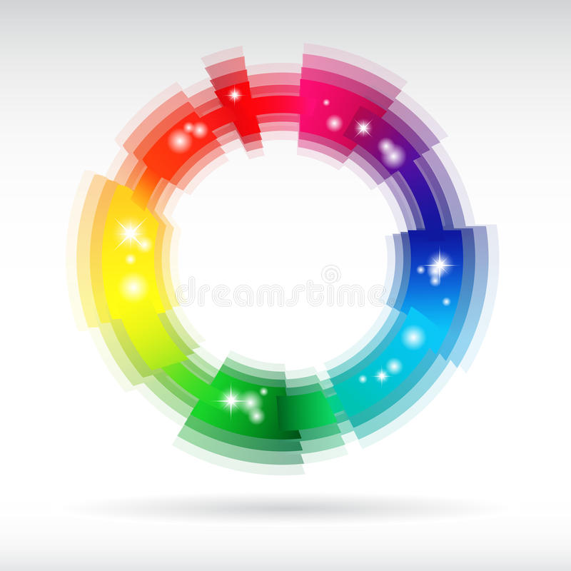 Abstract shiny color icon stock illustration