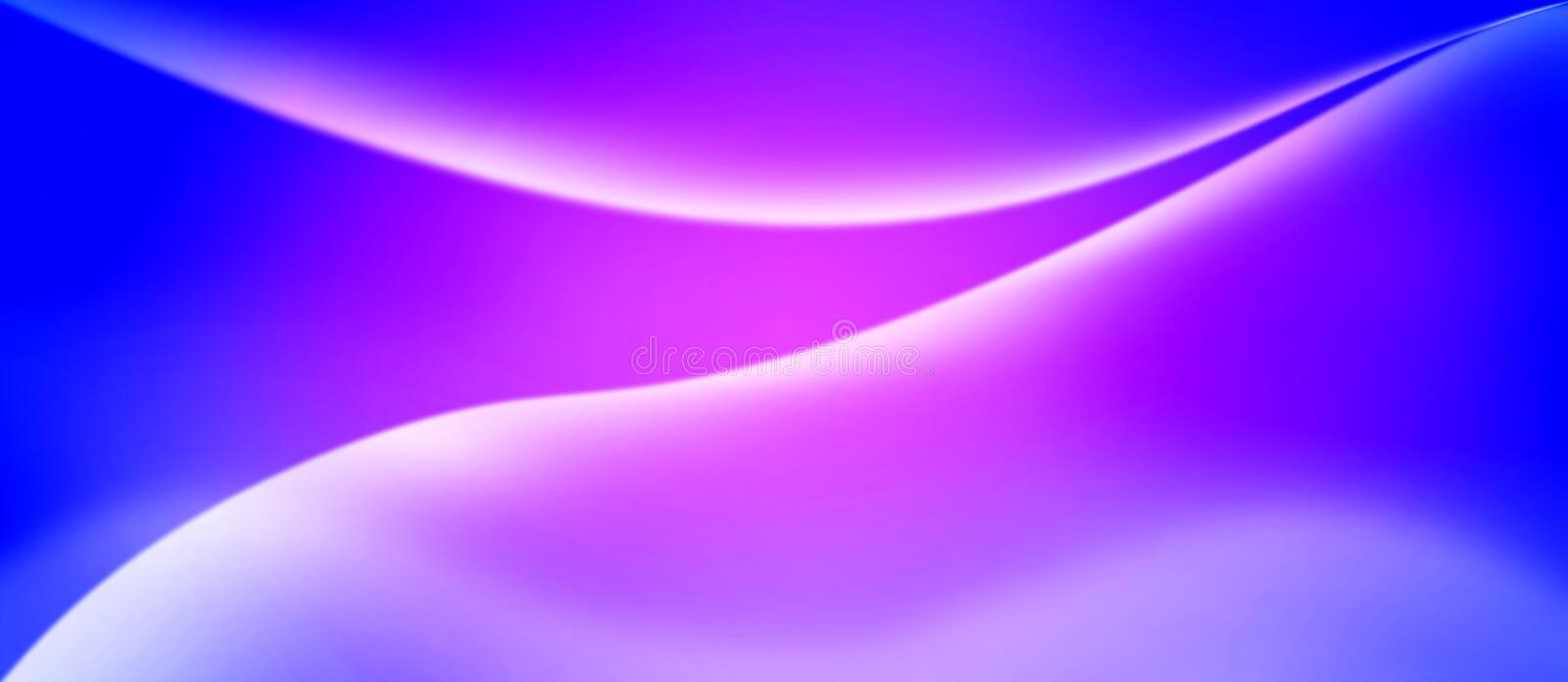 Abstract Shiny Curves in Blurred Blue and Pink Background vector illustration