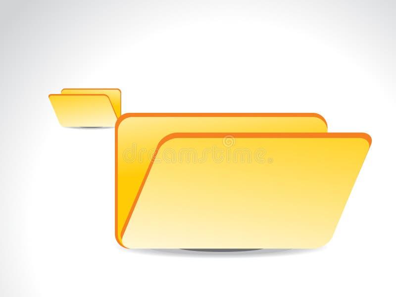 Abstract shiny folder icon stock illustration