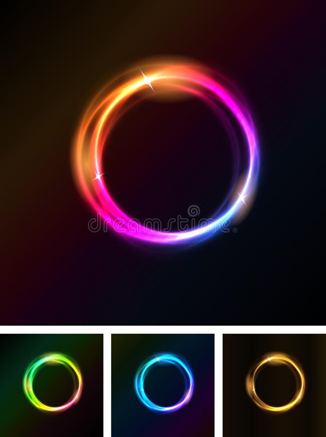 Abstract Shiny Light Circles vector illustration