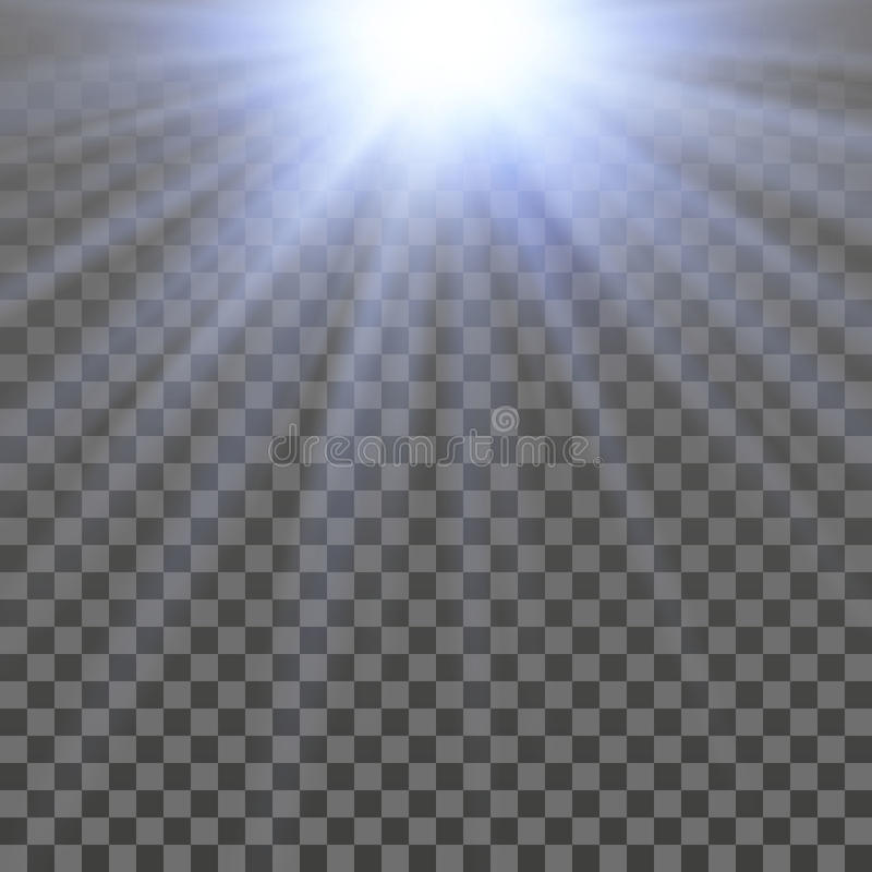 Abstract shiny light. With transparency effect vector illustration