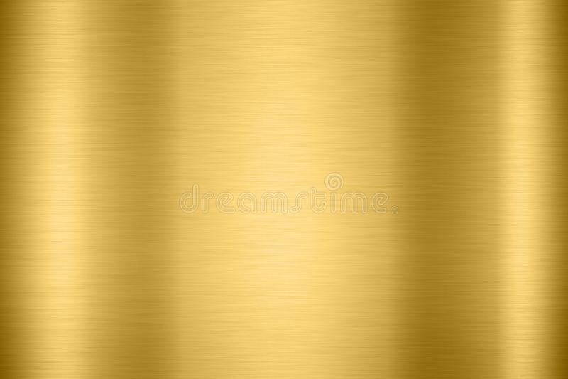 Abstract Shiny smooth foil metal Gold color background Bright vi royalty free stock photography