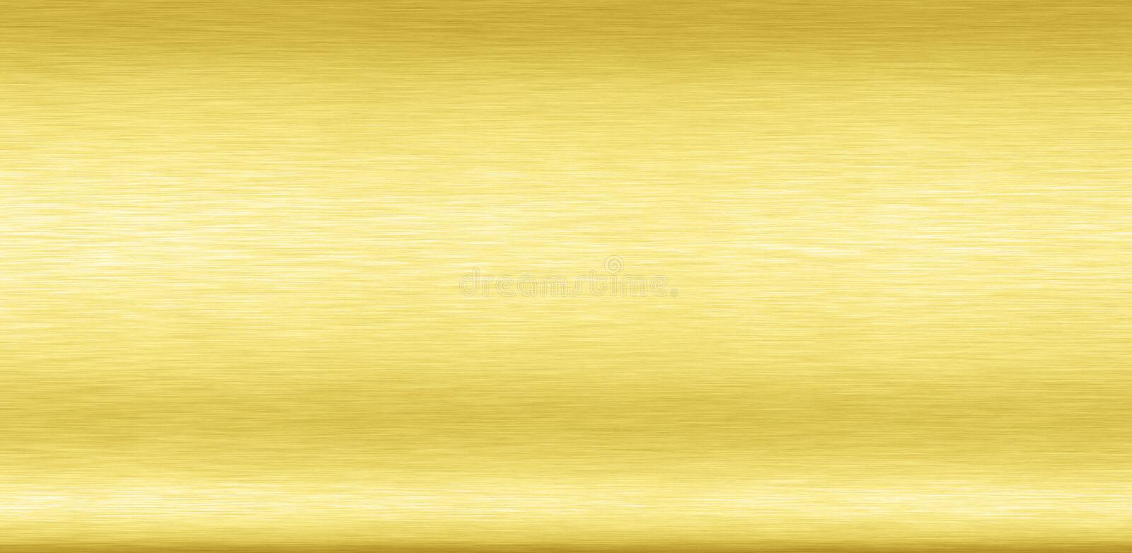 Abstract Shiny smooth foil metal Gold color background Bright vintage Brass plate chrome element texture concept simple bronze lea royalty free illustration