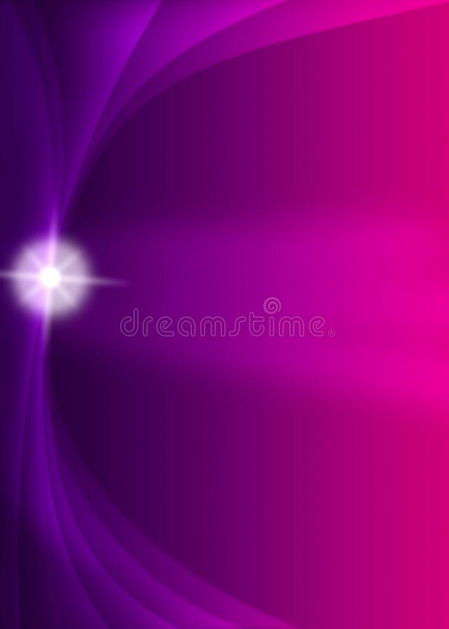 Shiny Sparkle and Curves in Blurred Dark Purple and Pink Background stock illustration