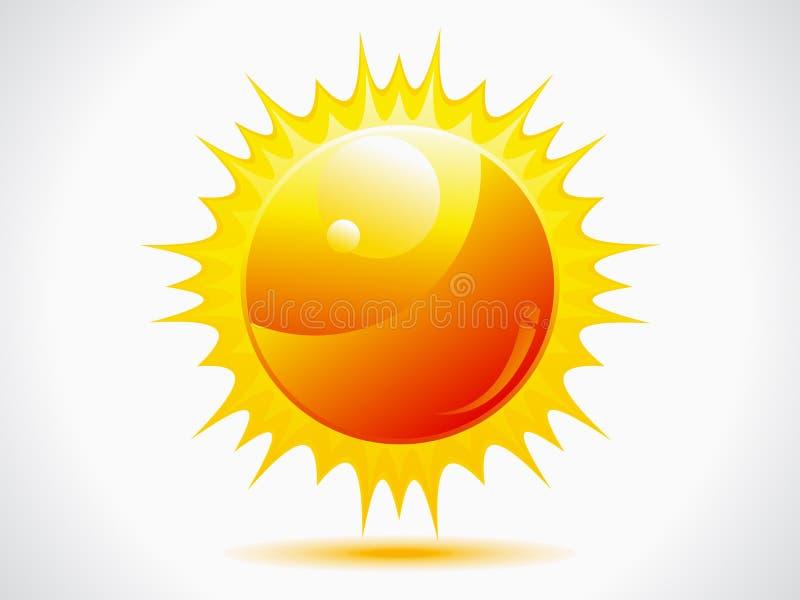 Abstract Shiny Sun Icon Royalty Free Stock Image