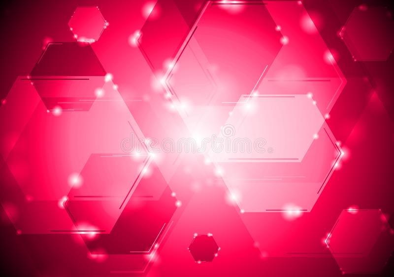 Abstract shiny tech background stock illustration