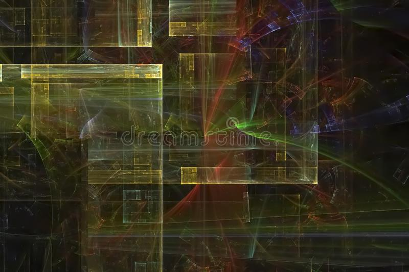 Abstract shiny texture glow banner wallpaper chaos color shape effect design holiday background future. Abstract fractal fantasy design background         magic royalty free stock photos