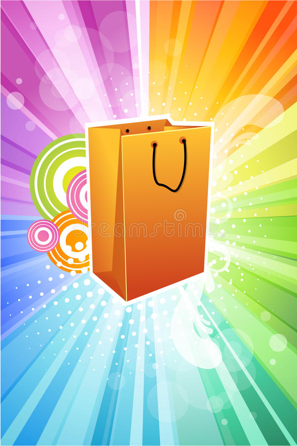 Free Abstract Shopping Bag Royalty Free Stock Images - 17595579