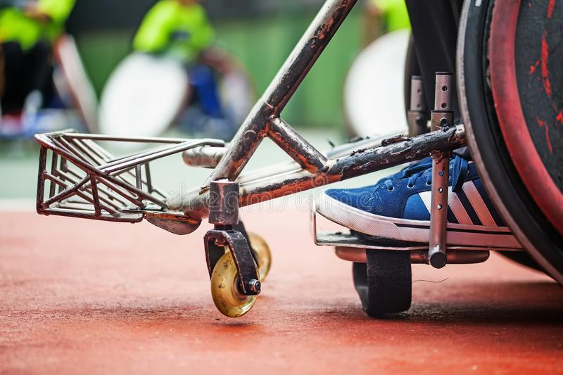 Abstract shot of disabled person stock photo