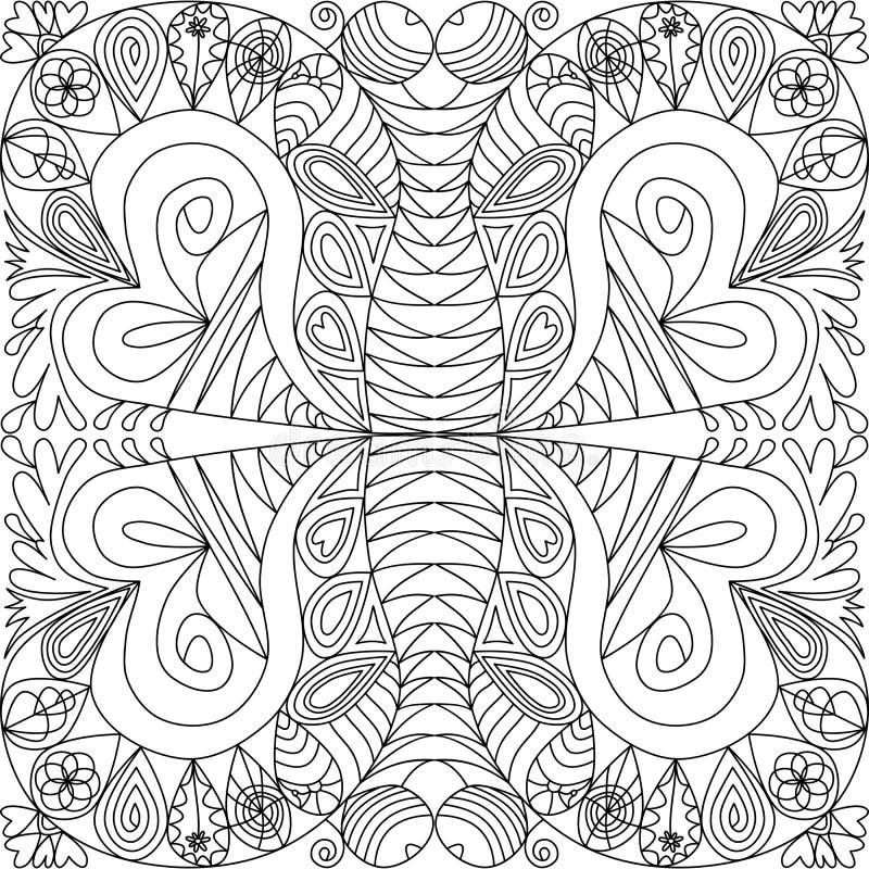 Abstract sierpatroon in zentanglestijl royalty-vrije illustratie