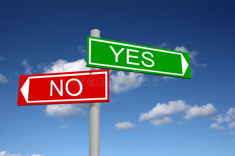 Download Abstract Signpost For Answers Yes And No Stock Illustration - Image: 13331518