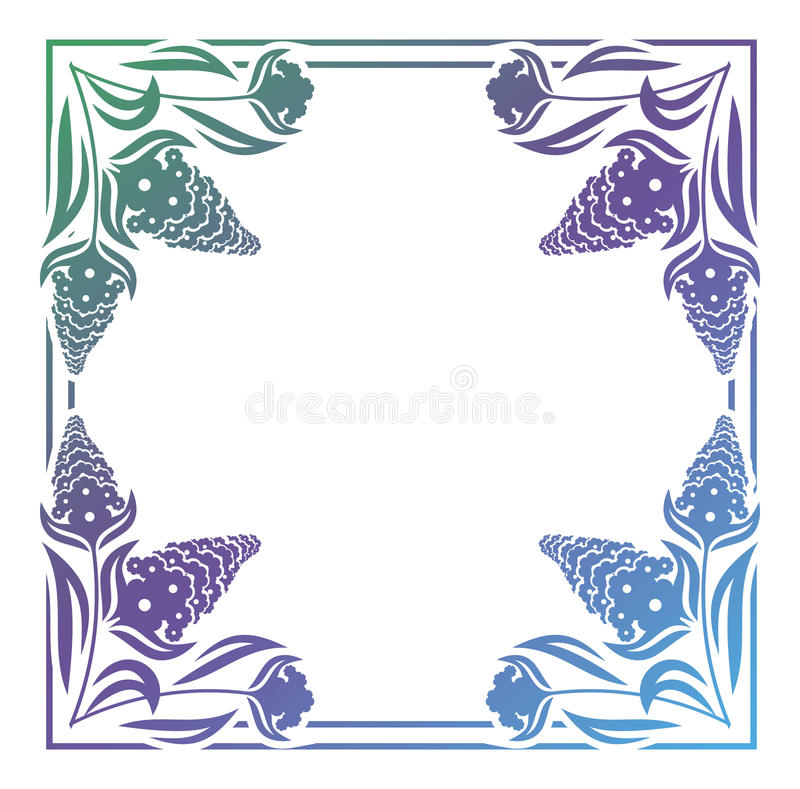 Abstract silhouet bloemenkader vector illustratie