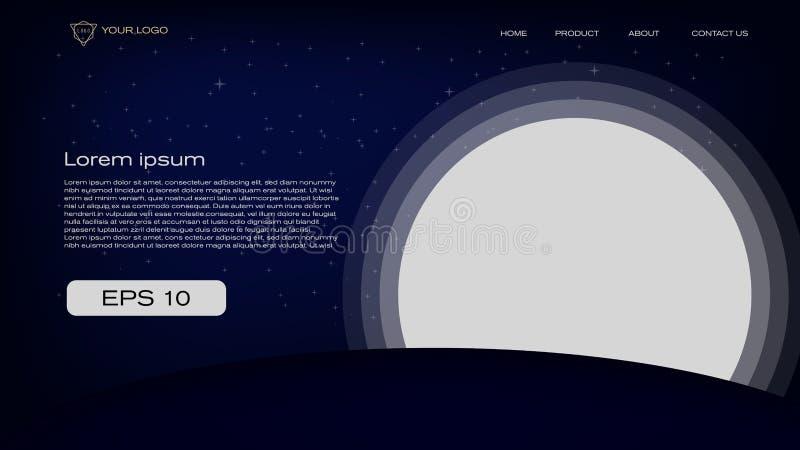 Abstract silhouet kleurrijk en speels achtergrond vectorillustratieontwerp voor landingspagina, banner, tijdschrift, affiche en v royalty-vrije illustratie