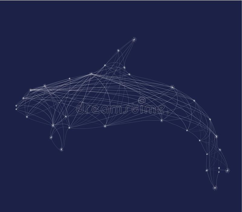 Abstract silhouette orca royalty free illustration