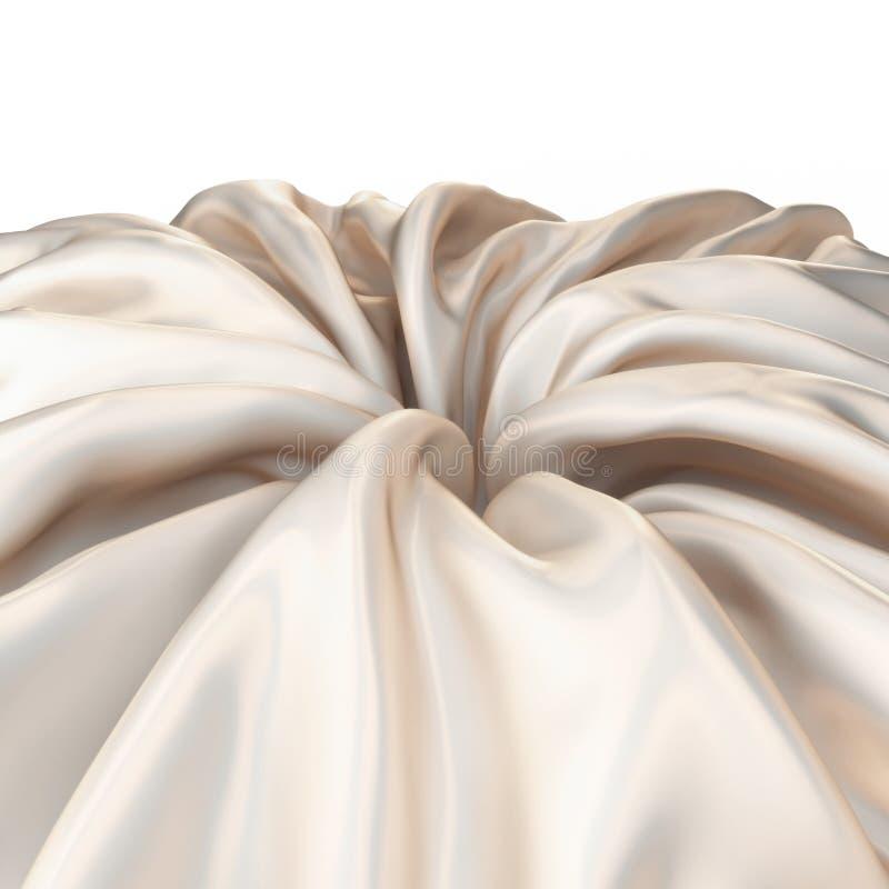 Abstract silk background. 3d render illustration vector illustration