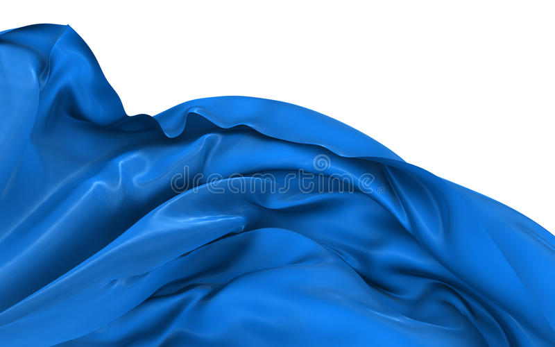 Abstract silk in the wind stock illustration