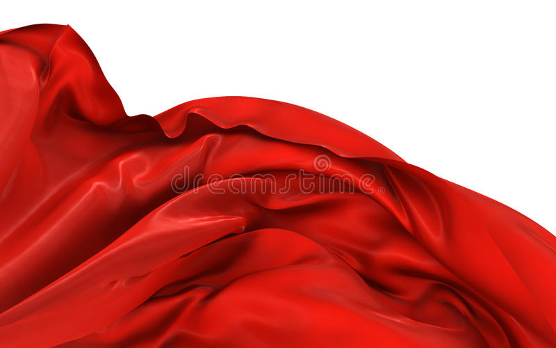 Abstract silk in the wind royalty free illustration
