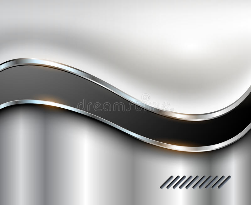Abstract silver background stock illustration