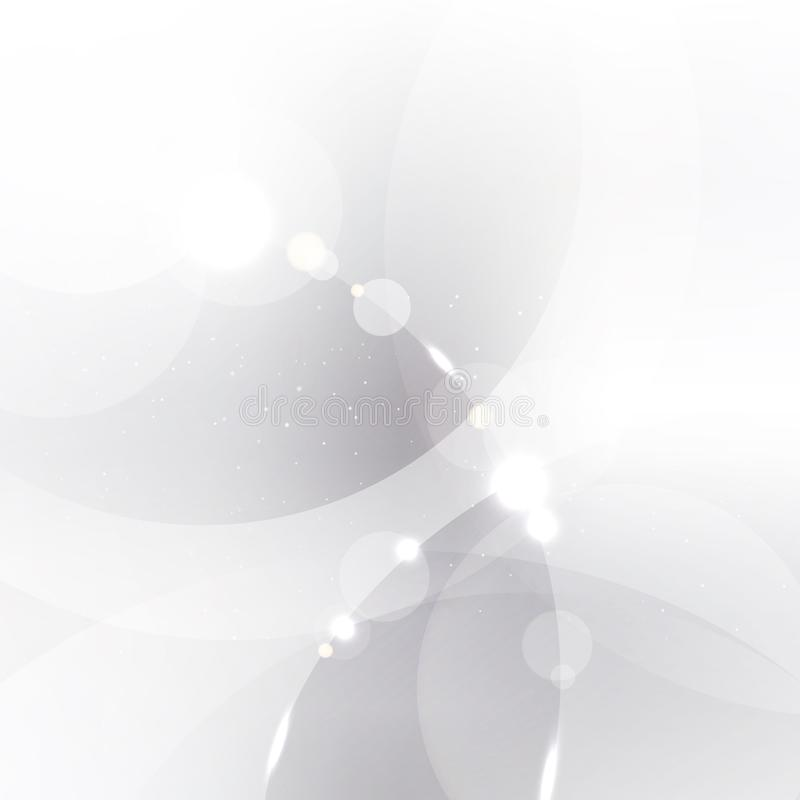 Abstract silver background with white and gray circles overlay a vector illustration