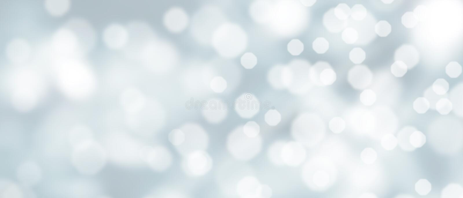 Abstract silver bokeh background royalty free stock photography