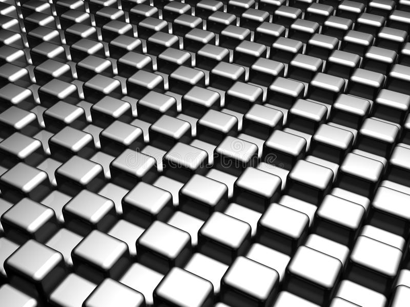 Abstract silver cube pattern background royalty free stock photo