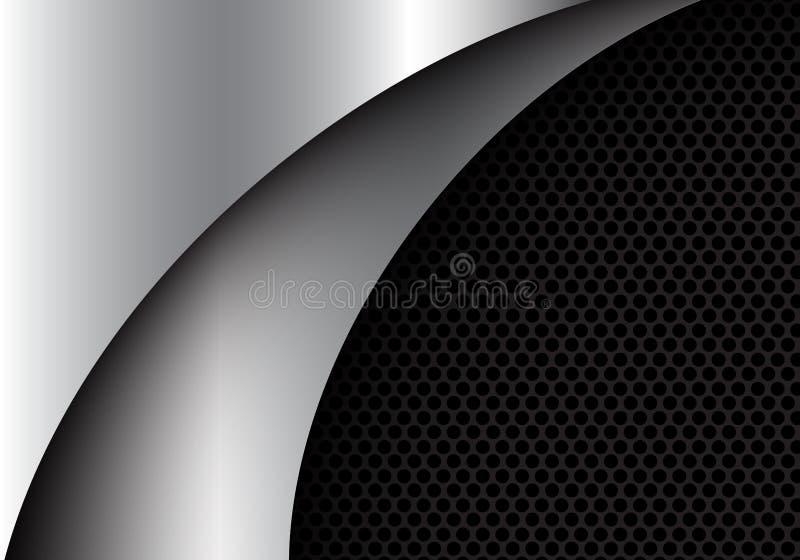 Abstract silver curve shape design modern luxury background vector. Illustration vector illustration