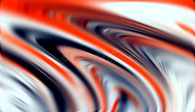 Abstract silver orange red gray colors and lines background. Lines in motion stock image