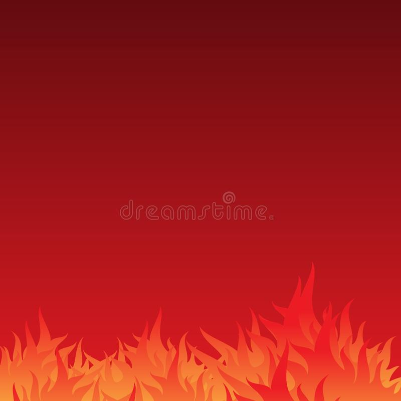 Abstract and simple burn flame background with gradation color royalty free illustration