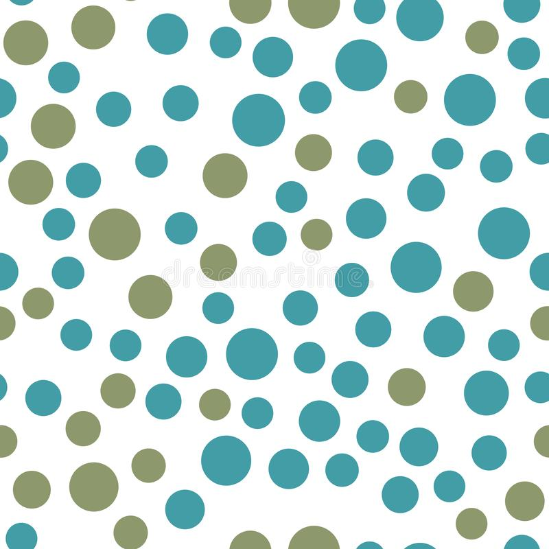Abstract simple circles seamless pattern. Minimalistic elements wallpaper vector illustration