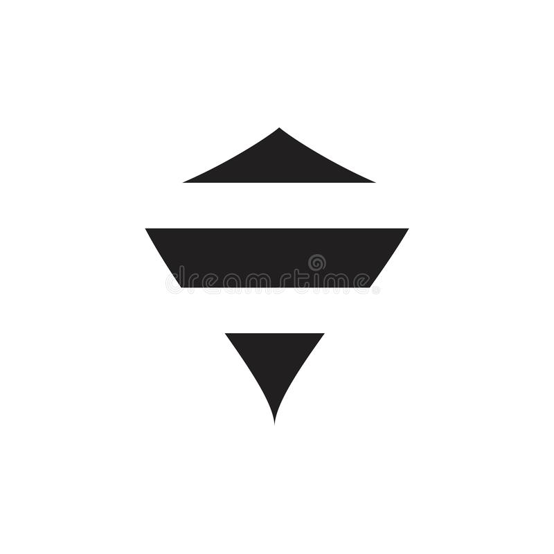 Bee shield shape logo vector stock illustration