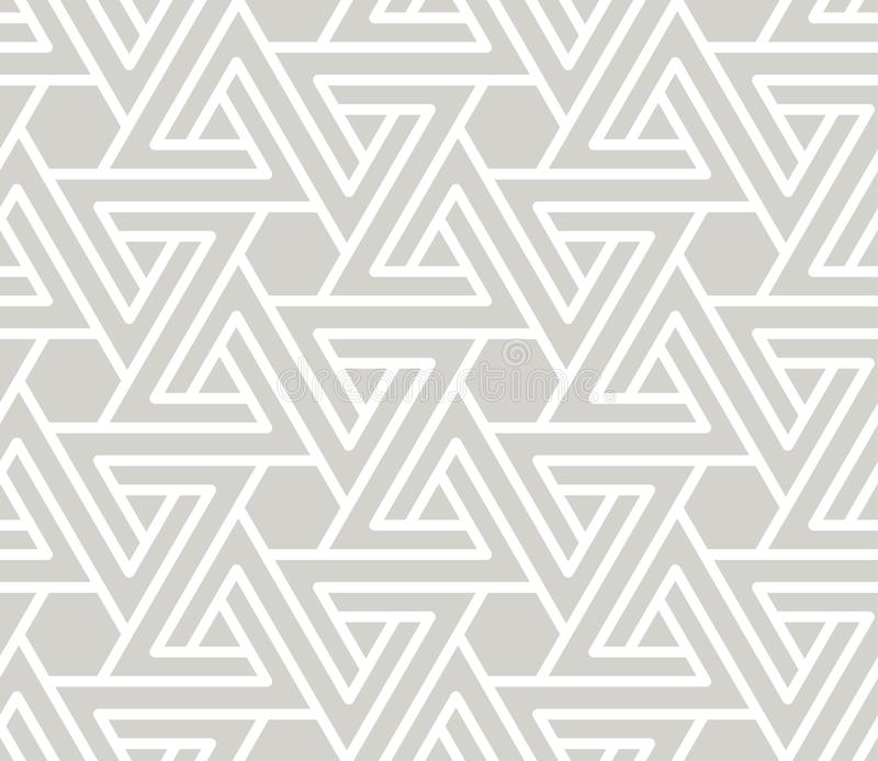 Abstract simple geometric vector seamless pattern with white line texture on grey background. Light gray modern. Wallpaper, bright tile backdrop, monochrome vector illustration